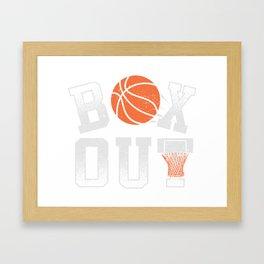 Basketball Coach Shirt Box Out rebound defense Framed Art Print