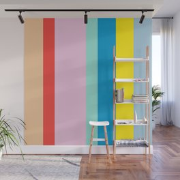 the color of summer stripes Wall Mural