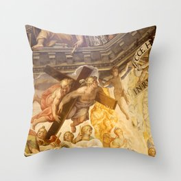Vasari Fresco, Brunelleschi Cupola, Florence Duomo Throw Pillow