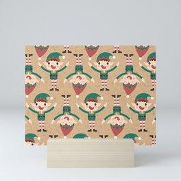 Santa's Elven Slaves II (Patterns Please) Mini Art Print