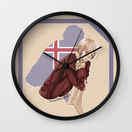 Aph Iceland Illustration Wall Clock