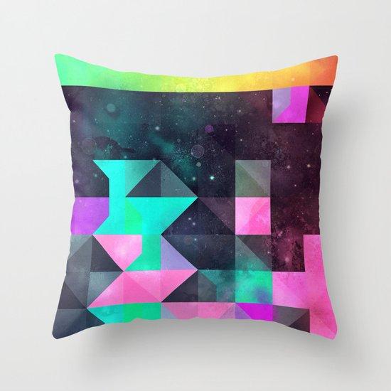 hyppy f'xn rysylyxxn Throw Pillow