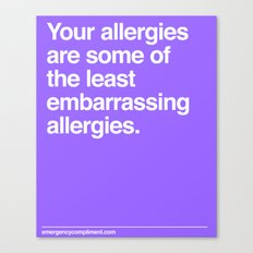 Allergies Canvas Print