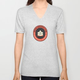 Social Distance Club - Namaste Away Thank You. Badge Unisex V-Neck