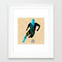 soccer Framed Art Prints featuring Soccer by marvinblaine