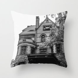 Brooklyn Heights Brownstone Throw Pillow