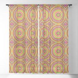 Batik Bullseye Sheer Curtain