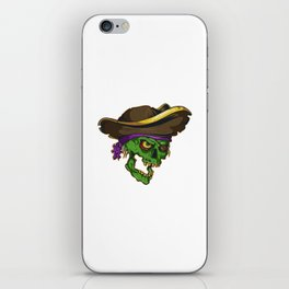 Art of a bloodthirsty pirate iPhone Skin