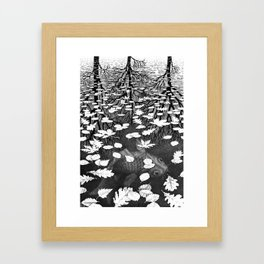 Escher- Three Worlds Framed Art Print