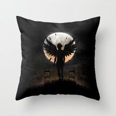 Lost in the world of humanity Throw Pillow