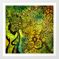 zentangle Art Prints featuring Zentangle by Crystal Streit-Beetham