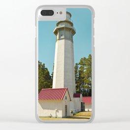 Grays Harbor Lighthouse Westport Washington Icon Landscape Coastal Northwest Maritime Fishing Boat N Clear iPhone Case