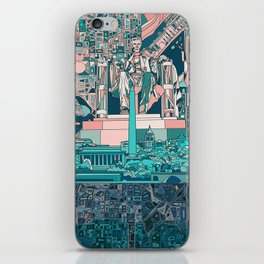washington dc city skyline iPhone Skin