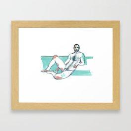 JUSTIN, Nude Male by Frank-Joseph Framed Art Print