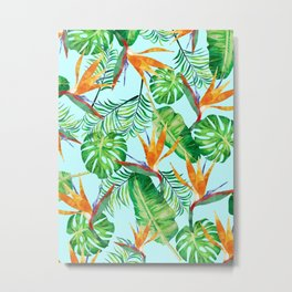Tropical and exotic pattern painting Metal Print