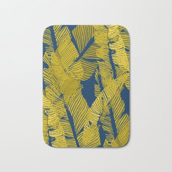 Carved Yellow&Blue Jungle #society6 #decor #buyart Bath Mat