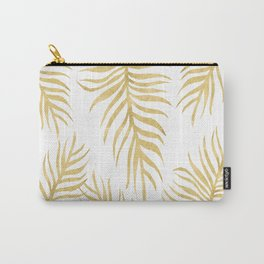 Fern Pattern Gold Carry-All Pouch