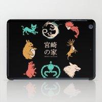 hayao miyazaki iPad Cases featuring House of Miyazaki by le.duc