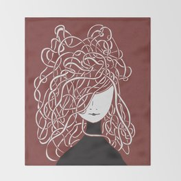Iconia Girls - Olivia Marsala Throw Blanket