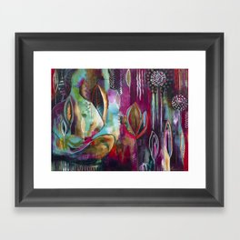 """""""Held and Healed"""" Original Painting by Flora Bowley Framed Art Print"""