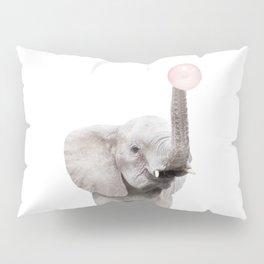 Bubble Gum Baby Elephant Pillow Sham