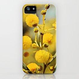 Yellow Puffballs iPhone Case