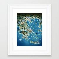 greece Framed Art Prints featuring Greece by Steebz