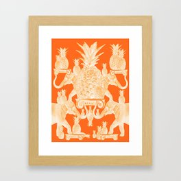 A tower of elephants and pineapples Framed Art Print