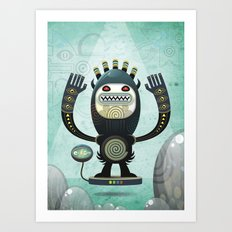 Alien Guard Art Print