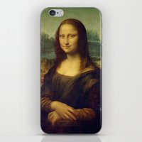 mona lisa iPhone & iPod Skins featuring Mona Lisa by Leonardo da Vinci by Palazzo Art Gallery