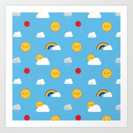 Kawaii Skies Art Print