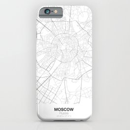 Moscow, Russia Minimalist Map iPhone Case