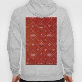 N85 - Orange Original Traditional Moroccan Design, Farmhouse Boho Style. Hoody