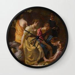 "Johannes Vermeer ""Diana and her Companions"" Wall Clock"