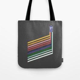 13th Doctor Retro Diagonal Stripes Tote Bag