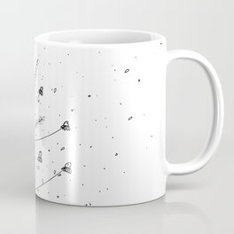 Chamomile Flowers Black and White Coffee Mug