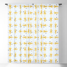 Spaceships pattern Blackout Curtain