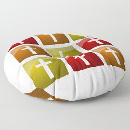 Colorful Christian Crosses Floor Pillow