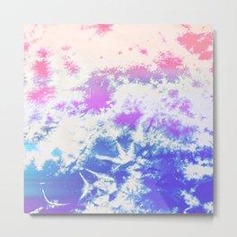 Abstract Modern Pastel Cloud Pattern Metal Print