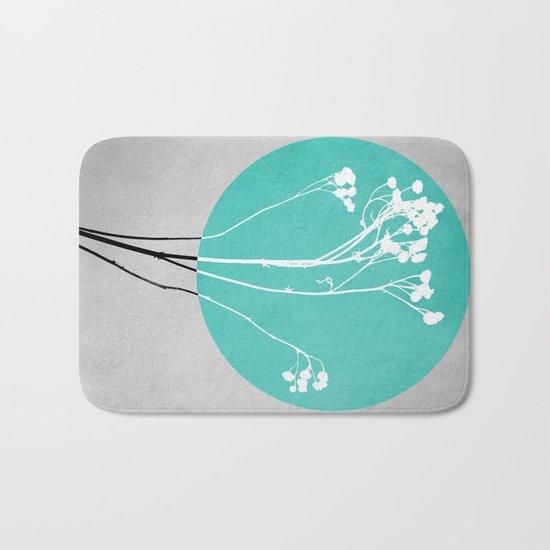 Abstract Flowers 1 Bath Mat