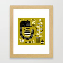 CAT & STUFF Framed Art Print