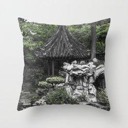 Colorless Shanghai1 Throw Pillow