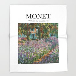 Monet - The Artist's Garden at Giverny Throw Blanket