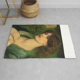 "Dante Gabriel Rossetti ""The salutation of Beatrice"" Rug"