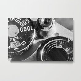 Old School Metal Print