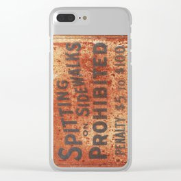 Spitting Prohibited Clear iPhone Case