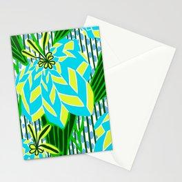 BAYAMO: BLUE GREEN DREAM, Art Deco Tropical Stationery Cards
