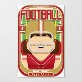 American Football Red and Gold - Hail-Mary Blitzsacker - June version Canvas Print