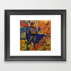 The Bat Man Framed Art Print