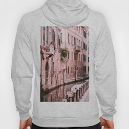 Venice pink canal with old buildings travel photography Hoody
